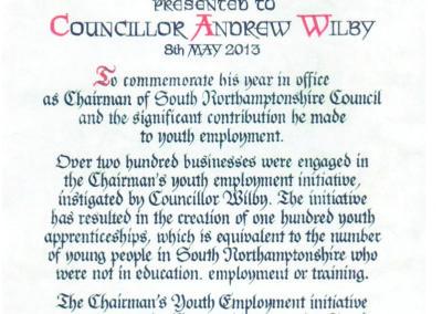 Councillor award