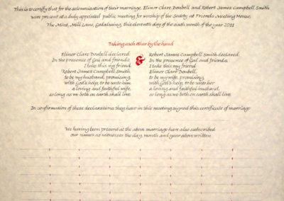 QuakerMarriageCertificate